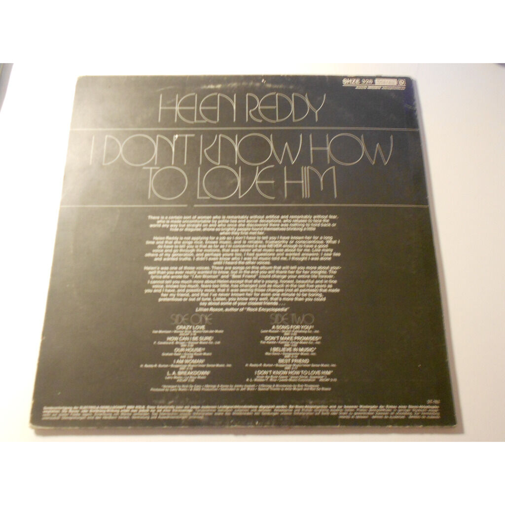 helen reddy i don't how to love him