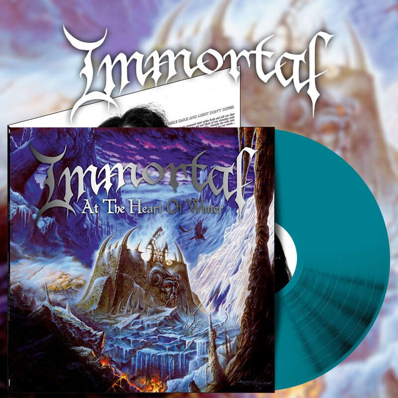 IMMORTAL At the Heart of Winter. Sea Blue Vinyl