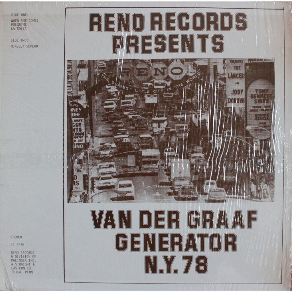 Van Der Graaf Generator N.Y. 78