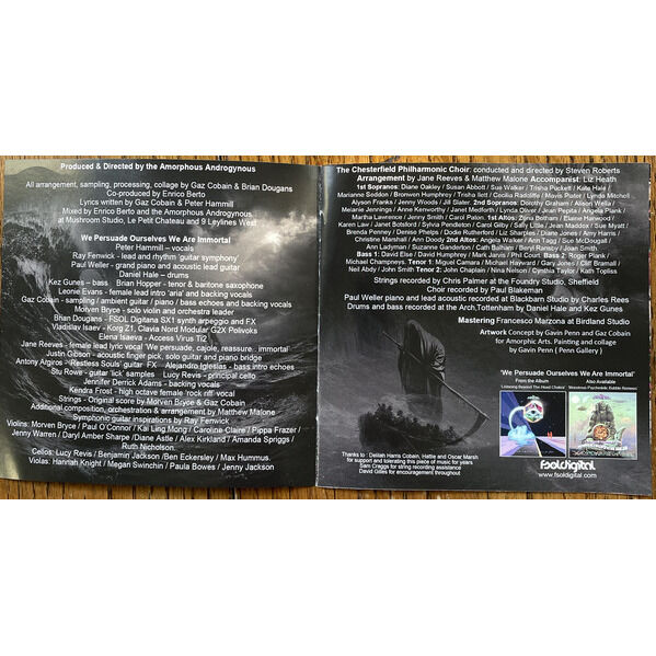 The Amorphous Androgynous & Peter Hammill We Persuade Ourselves We Are Immortal (incl. 4 bonuses)