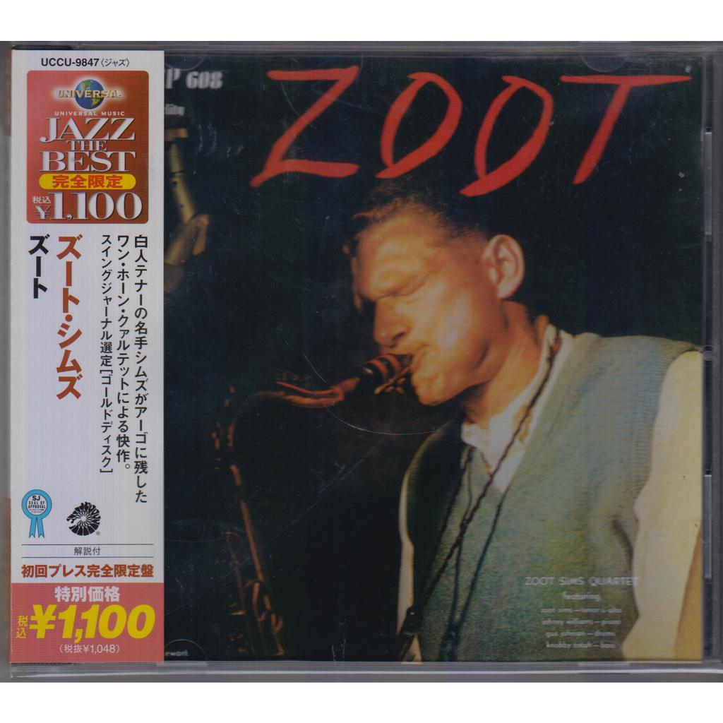 ZOOT SIMS QUARTET Zoot JAPAN OBI NEW