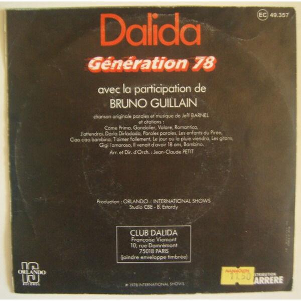 dalida génération 78
