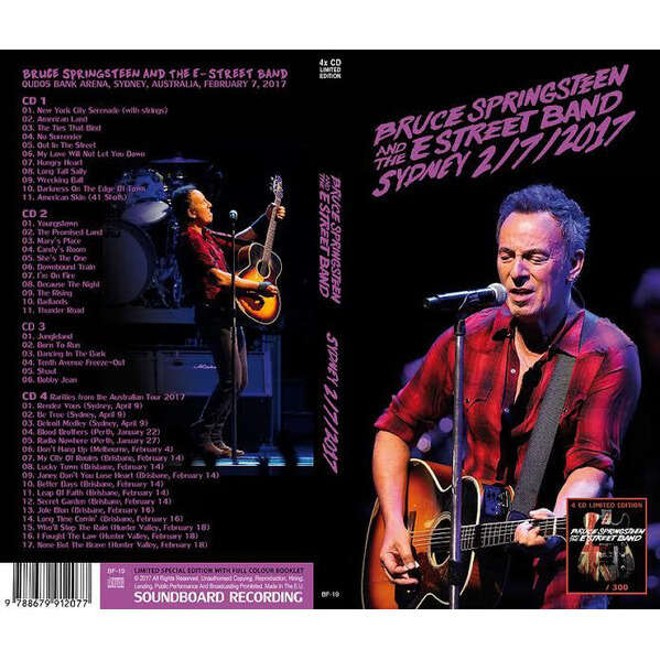 Bruce Springsteen And The E Street Band 4CD Long BOX - Sydney 2/7/2017