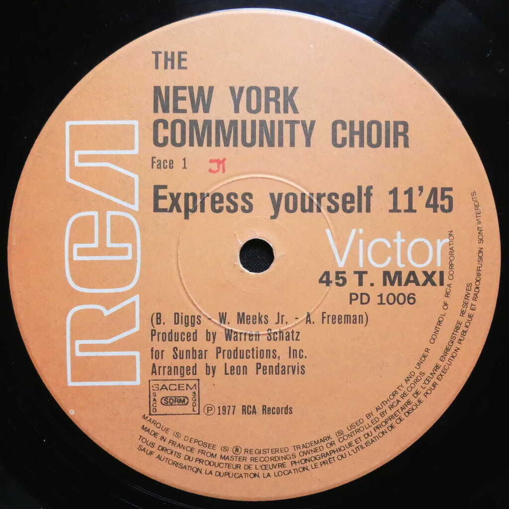 The New York Community Choir Express Yourself / Have A Good Time