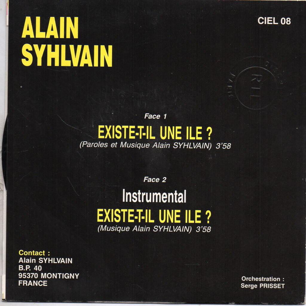 Alain Syhlvain Existe-t-il Une Ile? / Existe-t-il Une Ile? (Instrumental)