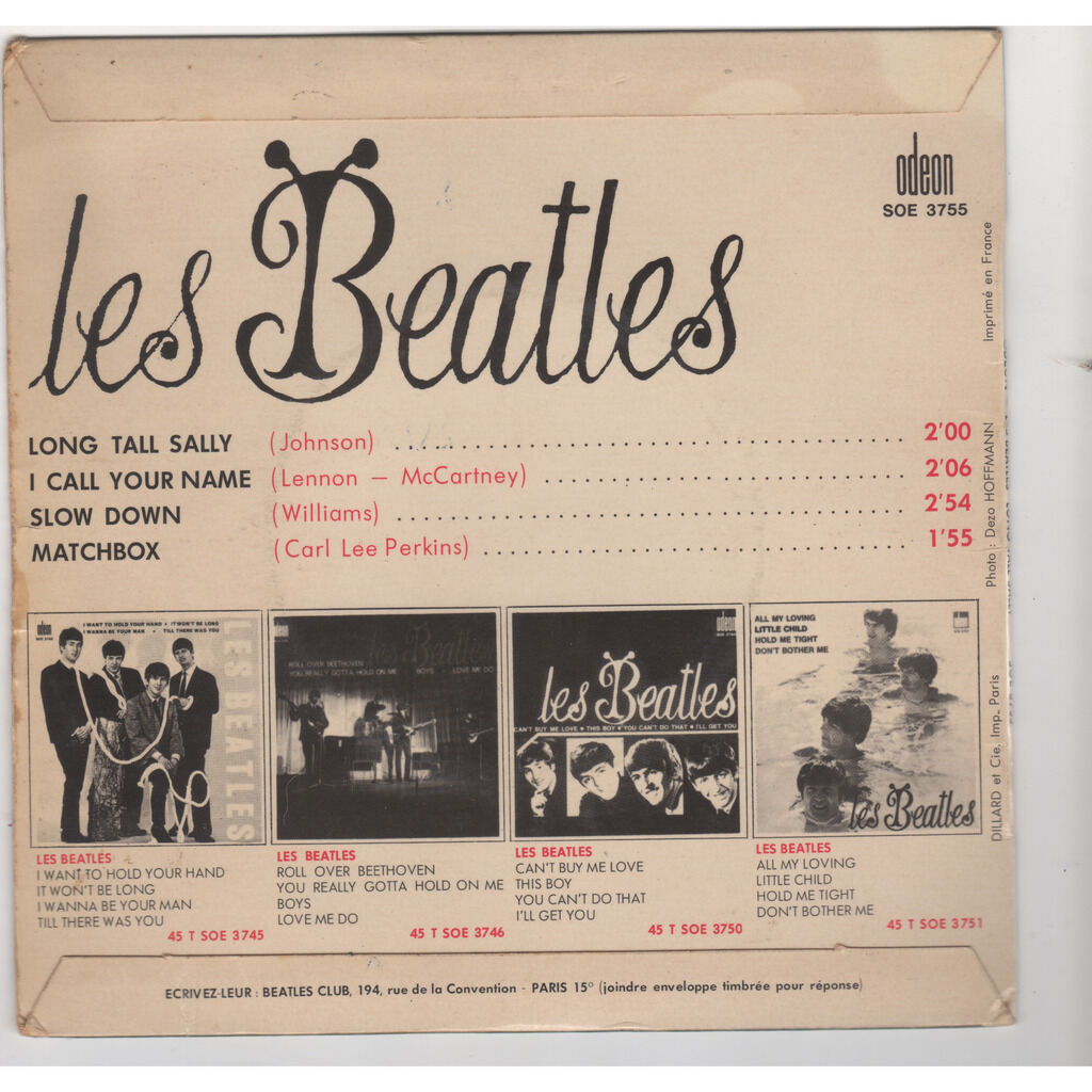 BEATLES long tall sally / i call your name / slow down / matchbox