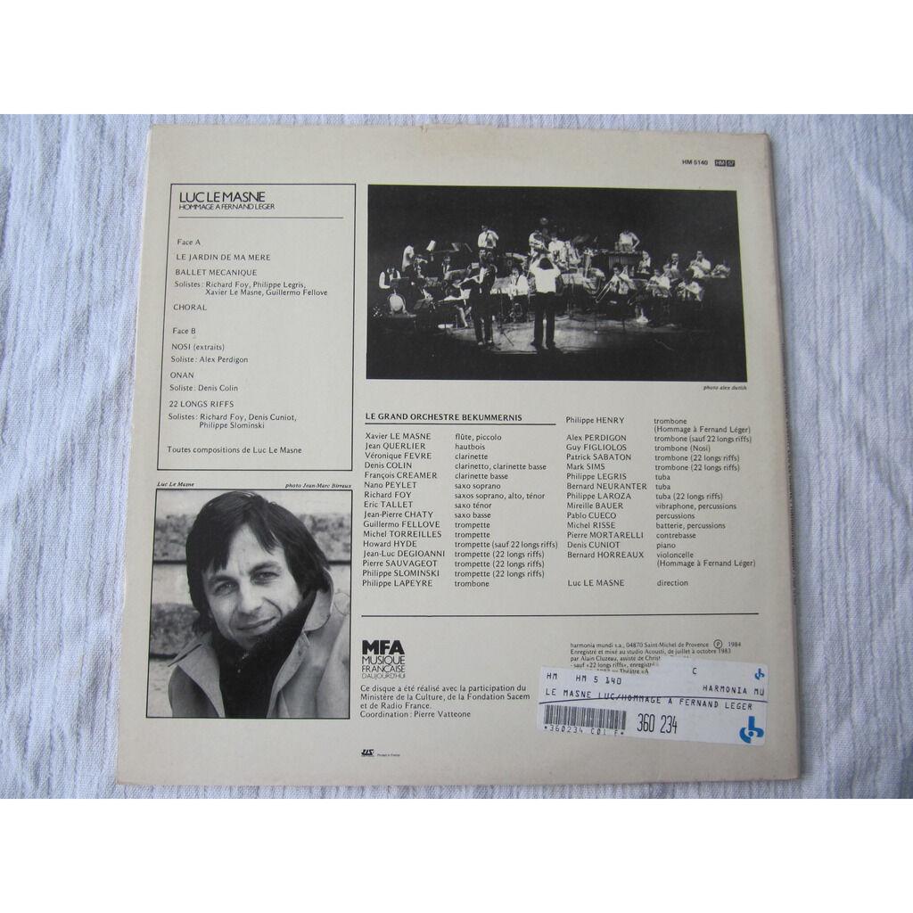 Luc Le Masne - Le Grand Orchestre Bekummernis Hommage À Fernand Léger