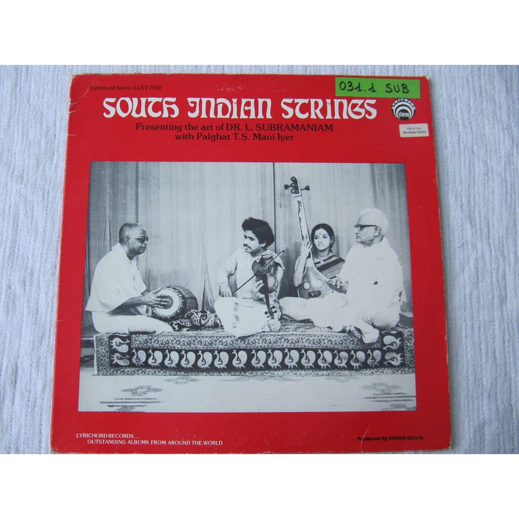 Dr. L. Subramaniam With Palghat T.S. Mani Iyer South Indian Strings