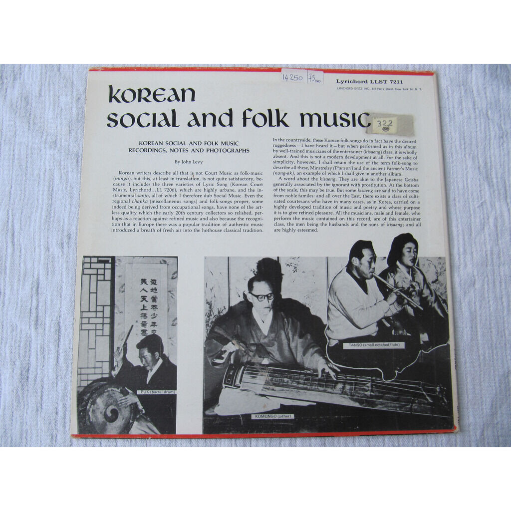 John Levy Korean Social And Folk Music