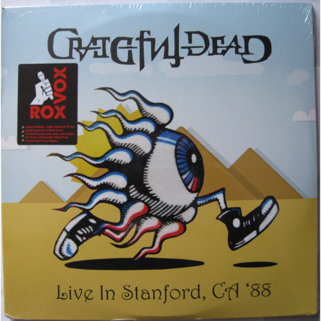 GRATEFUL DEAD Live in Stanford, CA '88 ( coloured vinyl x 3, numbered edition, limited 2000 copies )