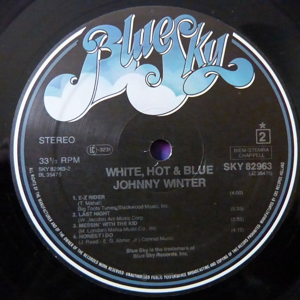 JOHNNY WINTER WHITE HOT AND BLUE