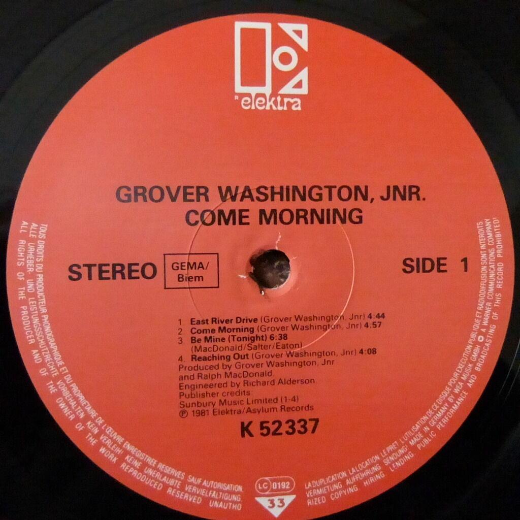 GROVER WASHINGTON JR COME MORNING
