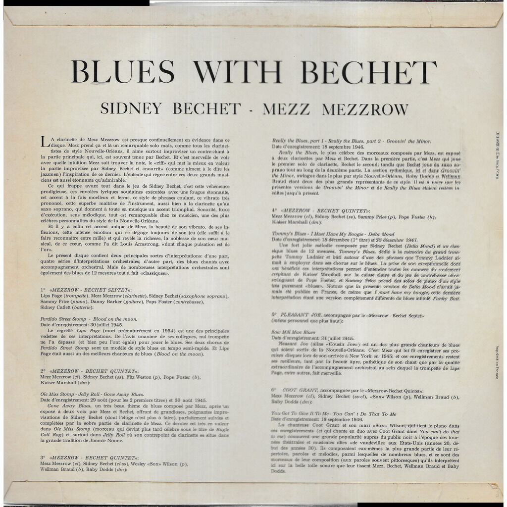 Sidney BECHET Blues with