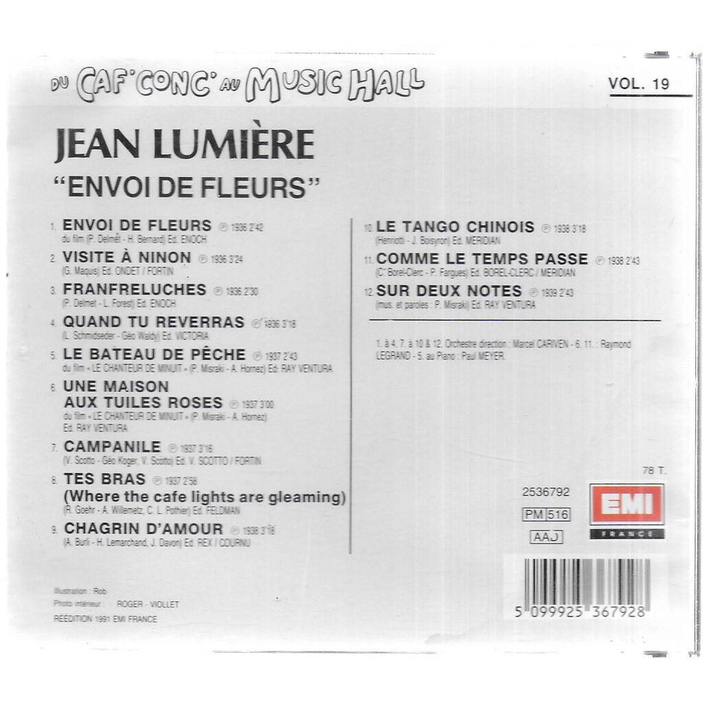 Jean LUMIERE Du Caf'Conc' au Music'Hall vol 19