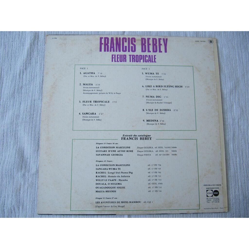 Francis Bebey Fleur Tropicale