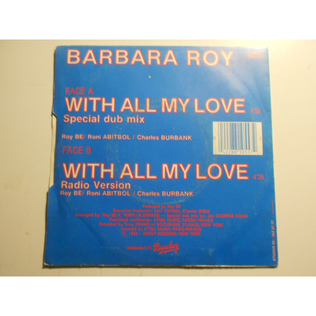 barbara roy with all my love