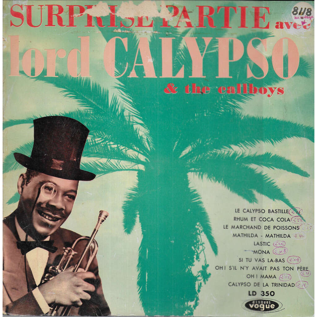 LORD CALYPSO and the Callboys Surprise-Partie Calypso