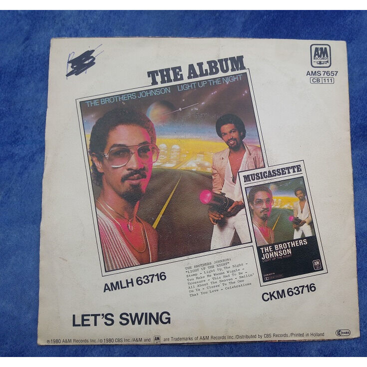 THE BROTHERS JOHNSON STOMP / Let's swing