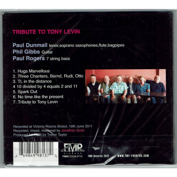 Paul Dunmall, Philip Gibbs, Paul Rogers Tribute To Tony Levin