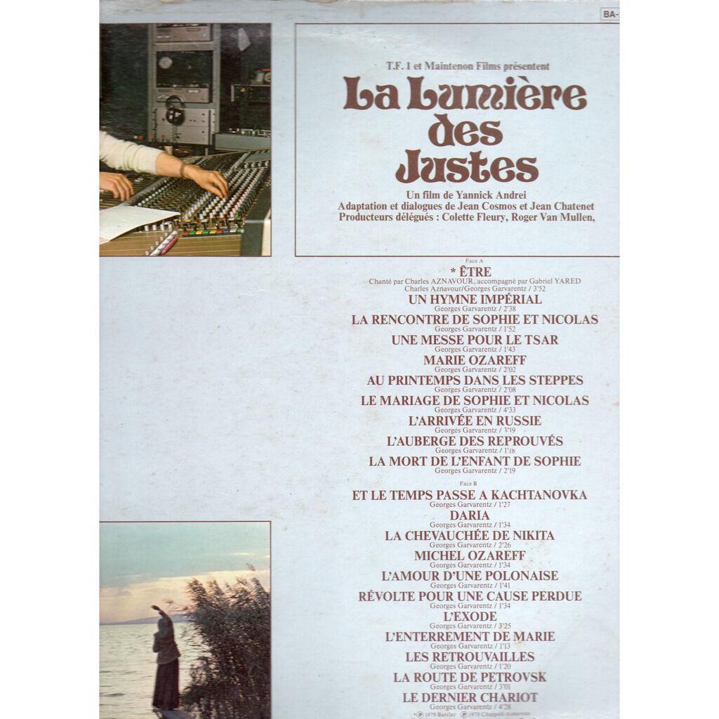 GARVARENTZ GEORGES- Charles Aznavour LA LUMIERE DES JUSTES